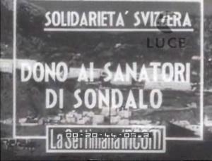 Solidarietà svizzera-Dono ai sanatori di Sondalo
